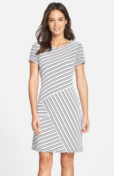 Marc+New+York+by+Andrew+Marc+Mesh+Stripe+Shift+Dress+available+at+#Nordstrom