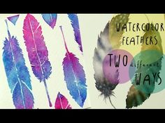 Watercolor Tutorial: How to paint FEATHERS in TWO different WAYS - by ART Tv - YouTube