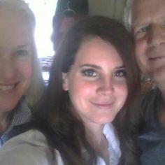 Lana Del Rey with her parents