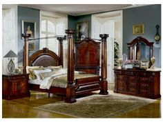 Dark Cherry Bedroom Furniture Decor...I like this furniture, dark ...