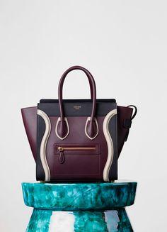 Micro Luggage Handbag in Smooth Calfskin - Winter | CÉLINE