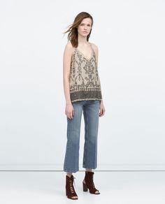 Imagem 1 de TOP COM LANTEJOULAS da Zara