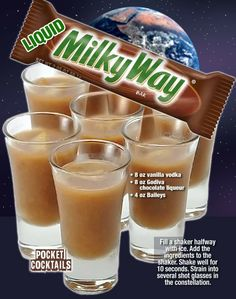 Millions of People Enjoy Pocket Cocktails. Check out our World Famous Drink Posters. Cocktail Shots, Cocktails, Cocktail Recipes, Cocktail Ideas, Martinis, Mixed Drinks Alcohol, Alcohol Drink Recipes, Punch Recipes, Vodka Recipes