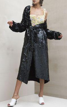 Dara Georgette Robe Paillettes by Attico   Moda Operandi