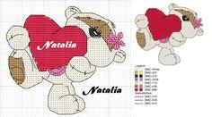 Cross Stitch Pillow, Cross Stitch Pictures, Cross Stitch Heart, Cross Stitch Animals, Counted Cross Stitch Patterns, Cross Stitch Embroidery, Fizzy Moon, Crochet Symbols, Stitch Magazine