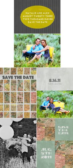 fun save the date cards from Yummy Life Photography