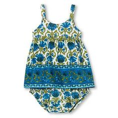 Happy by Pink Chicken Baby Girls' Border 2-Piece Set - Matisse Blue