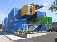 cargo container homes | 12-unit, 32 container office.