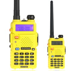 BaoFeng UV-5R Yellow Color 136-174/400-480 MHz Dual-Band 128CH Two Way Radio Types Of Sales, Two Way Radio, Security Surveillance, Band, Yellow, Color, Sash, Bands, Colour
