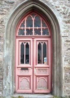 Pink is not my color, but I love the door and entrance archway!