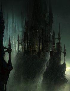 Gothic Castle Characters & Art Dark Souls II Fantasy landscape Fantasy background Dark souls