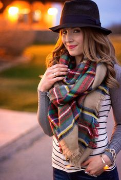 Now Trending: Blanket Scarves #ilovefall