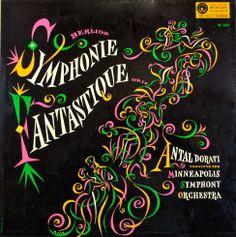 Dorati/ Minneapolis Symphony Orchestra-Berlioz: Symphonie Fantastique label: Mercury MG 50034 (1955), Design: George Maas.