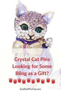 Looking for cool and cute gifts for a cat mad friend? We have a round up of some pretty cool and unique crystal cat pins which would make great gifts