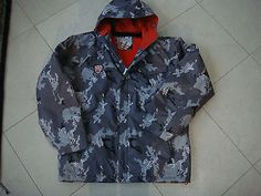 #Quicksilver #camouflage grey/red ski #jacket - size 16,  View more on the LINK: http://www.zeppy.io/product/gb/2/131855604726/