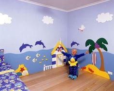 Beach Wall Mural for Kids Bedroom (via GO WALLPAPER)