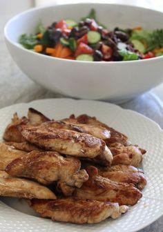 Greek Salad with Balsamic Glazed Chicken