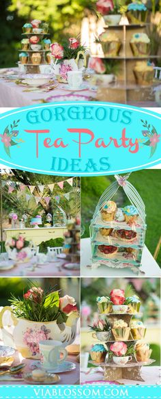 Do not miss this, if you are planning a Tea Party! All the Tea Party ideas you will need to celebrate a gorgeous Tea Party! #teapartyideas #teapartybirthday #bridalshowerteaparty #babyshowerteaparty #viablossom