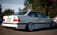 White e36 coupé on fantastic CCW Classic wheels