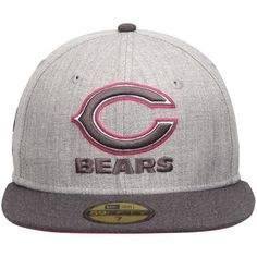 Men s Chicago Bears New Era Gray Graphite Breast Cancer Awareness On-Field  59FIFTY Fitted Hat 09899483e