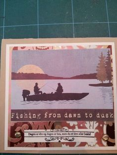 Gone fishing card to dad