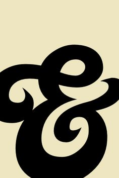 black ampersand on taupe {ben brooks}