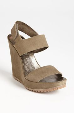 Pedro Garcia 'Kim' Wedge Sandal available at #Nordstrom...but in the dark green please