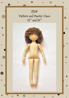 PDF+Cloth+Doll+PatternPDF+Sewing+TutorialSoft+Doll+par+NilaDolss