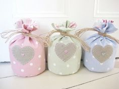 Handmade Door Stop with Applique Linen Heart from Ticketty Boo | Made By Ticketty Boo | £25.00 | Bouf