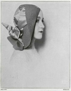 Unknown, 1931 - D'Ora  This hat is half way between a slouch style and a beret style, and shows the evolution of the cloche shape towards the asymmetrical look of the classic 30s style.