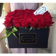 Flower arrangement in a box