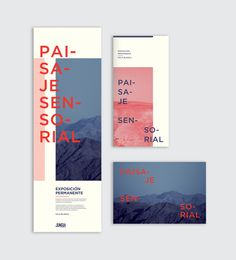 Paisaje sensorial Exhibition / by Ursula Villalba - Posters Design Brochure, Brochure Layout, Graphic Design Layouts, Graphic Design Typography, Graphic Design Inspiration, Layout Design, Brochure Examples, Design Design, Pamphlet Design
