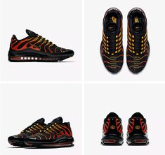 new style 79385 d2469 Nike Air Max 97 Plus Mens Shock Orange Black Shoes