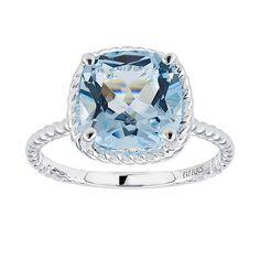 Birks Blue Topaz Ring in Sterling Silver