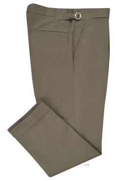 Dugdale Cotton:Sand Plain dress pant from Luxire: http://custom.luxire.com/products/dugdale_cotton_sand_plain  Features: Front slant pockets, standard extended closure, side metal adjusters, 2 rear pockets and 1.75″ bottom cuffs