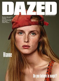 Rianne van Rompaey stars on Dazed Winter 2015 covers by Collier Schorr