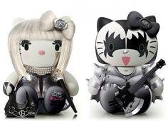 ★ 16 Awesome Hello Kitty Mash-ups: Lady Gaga + Kiss | collection: http://walyou.com/hello-kitty-mashups/#