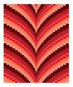 Autumn Points Bargello Quilt Pattern & Tutorial, Digital Download PDF