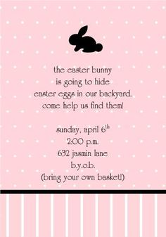 My little girl will have to help me send these special Easter egg hunt invitations out one day!