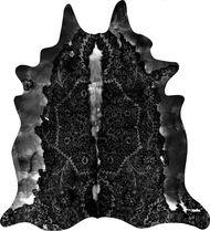 Black Persian Cowhide Rug