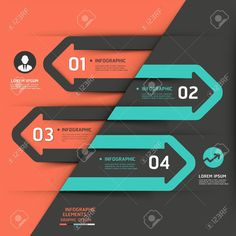 Modern business arrow infographics template illustration can be used for workflow layout, diagram, number options, business step options, banner, web design Stock Vector - 20859009