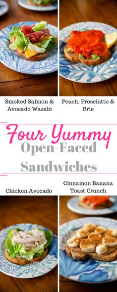 Four Yummy Open-Faced Sandwiches are on the blog! #sandwich #smokedsalmon #brie #chicken #avocado #openfaced #eatrealfood #healthyliving #healthylivingblogger #balance #intuitiveeating #goodeats #foodie #foodlove #eathealthy #cleaneating #forkyeah #foodie #foodporn #food #instagood #foodgasm #foodography #foodforfoodies #onthetable // www.katheats.com/...
