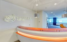 SkyTeam opens new lounge at Istanbul's Atatürk International Airport Istanbul, International Airport, Bathtub, Lounges, Airports, Mirror, Furniture, Home Decor, Standing Bath