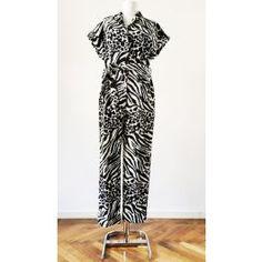 Salopeta cu maneca scurta cu mansete, imprimeu tigrat, accesorizata cu cordon in talie Pants, Dresses, Fashion, Vestidos, Moda, Trousers, Women Pants, Fasion, Dress