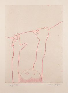 Louise Bourgeois, Hang On!!, 2004 – soft ground etching, 91.4 × 80 cm