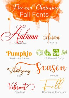 Free And Charming Fall Fonts - Fonts - Ideas of Fonts - Free And Charming Fall Fonts Calligraphy Fonts, Typography Fonts, Fonts Gratis, Fall Fonts, Winter Fonts, Free Font Design, 3d Laser Printer, Schrift Design, Fun Craft