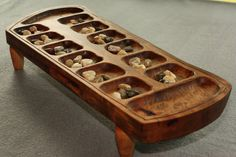 Mancala Playing Board - by Brett @ LumberJocks.com ~ woodworking ...