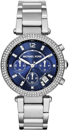 My hearts desire is my old Cartier Watch that I sold, and buying it back now is no longer in the cards. I keep going back to this Michael Kors. Anyone have an opinion? I love the way this looks, I even like the blue face.