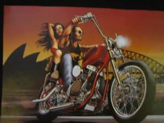 "DAVID MANN ""Thunder Down Under"" EASYRIDERS ART CLASSIC PRINT POSTER FROM BOOK"