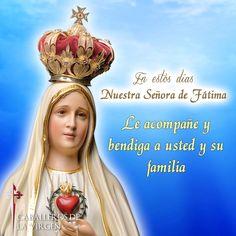 ® Blog Católico Gotitas Espirituales ®: VIRGEN DE FÁTIMA Pictures Of Jesus Christ, Lady Of Fatima, Mother Mary, Humility, Our Lady, Pray, Spirituality, Faith, Movie Posters